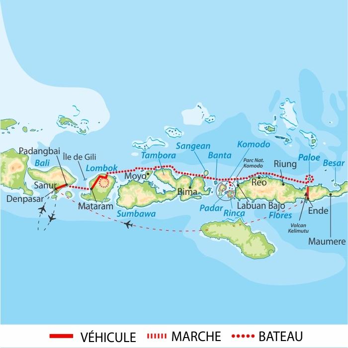 Carte Bali Lombok Gili.Cruise The Lesser Sunda Islands Altai Indonesia